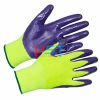Перчатки нейлоновые с нитриловым покрытием N1001