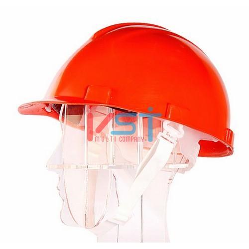 Каска защитная К1 СТРОИТЕЛЬ оранжевая