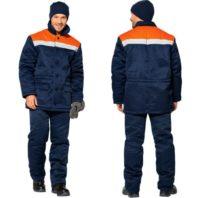 Куртка ЗИМОВКА 103-0105-02 сине-оранжевая