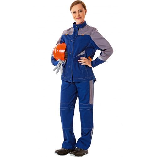 Куртка ЛЕДИ СПЕЦ 101-0254-01 темно-синий с серым