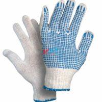 перчатки ХБ с ПВХ 10 класс 5 нитей белые