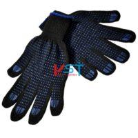 перчатки ХБ с ПВХ 10 класс 6 нитей черные