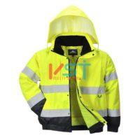 Куртка 2 в 1 светоотражающая PORTWEST C468 желтая