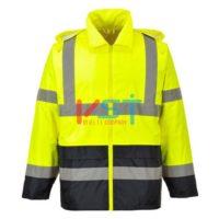 Куртка сигнальная контрастная влагозащитная PORTWEST H443 желтая