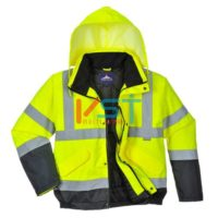 Куртка двухцветная светоотражающая PORTWEST БОМБЕР S266 желтая