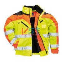 Куртка-бомбер контрастная PORTWEST S464 желтая