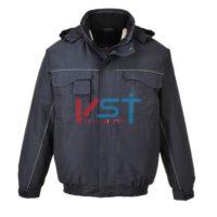 Куртка-бомбер двухцветная PORTWEST S561 темно-синяя