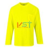 Футболка светоотражающая c длинными рукавами и карманом PORTWEST S579 желтая