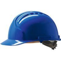 Каска защитная JSP МК7 без вентиляции синяя