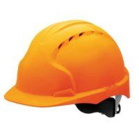 Каска защитная JSP ЭВО 3 AJF170-000-800 с храповиком и вентиляцией оранжевая