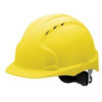 Каска защитная JSP ЭВО 3 AJF170-000-200 с храповиком и вентиляцией желтая
