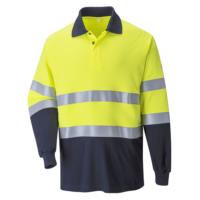 Огнестойкая антистатическая двухцветная рубашка поло PORTWEST PW-FR74
