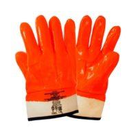 Перчатки ПВХ утеплённые бензомаслостойкие ПЛАМЯ, манжет-крага, арт.3011