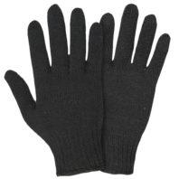 Перчатки х/б полушерсть без ПВХ, 7 класс, АРТ. 0031Р, черные