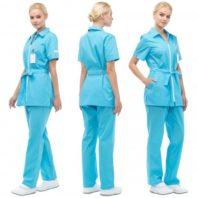 Комплект ФИЕСТА женский (брюки и блуза) голубой 171870