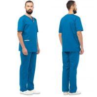 Комплект ЮНИК мужской (блуза и брюки) морская волна 171948