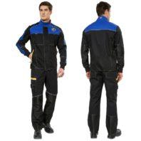 Куртка СТАРТ мужская чёрная с синим 168776