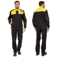 Куртка СТАРТ мужская чёрная с желтым 168777