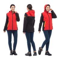 Куртка ТАЙМ женская красная софтшелл 171822