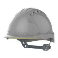 Каска JSP ЭВО 3 AJF160-000-400 с храповиком и вентиляцией серая